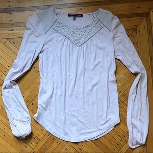 Comptoir des Cotonniers Pale Pink Long-Sleeve Top